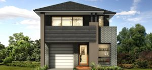 The Toscano is a Champion Homes design that is suited for narrow lots.