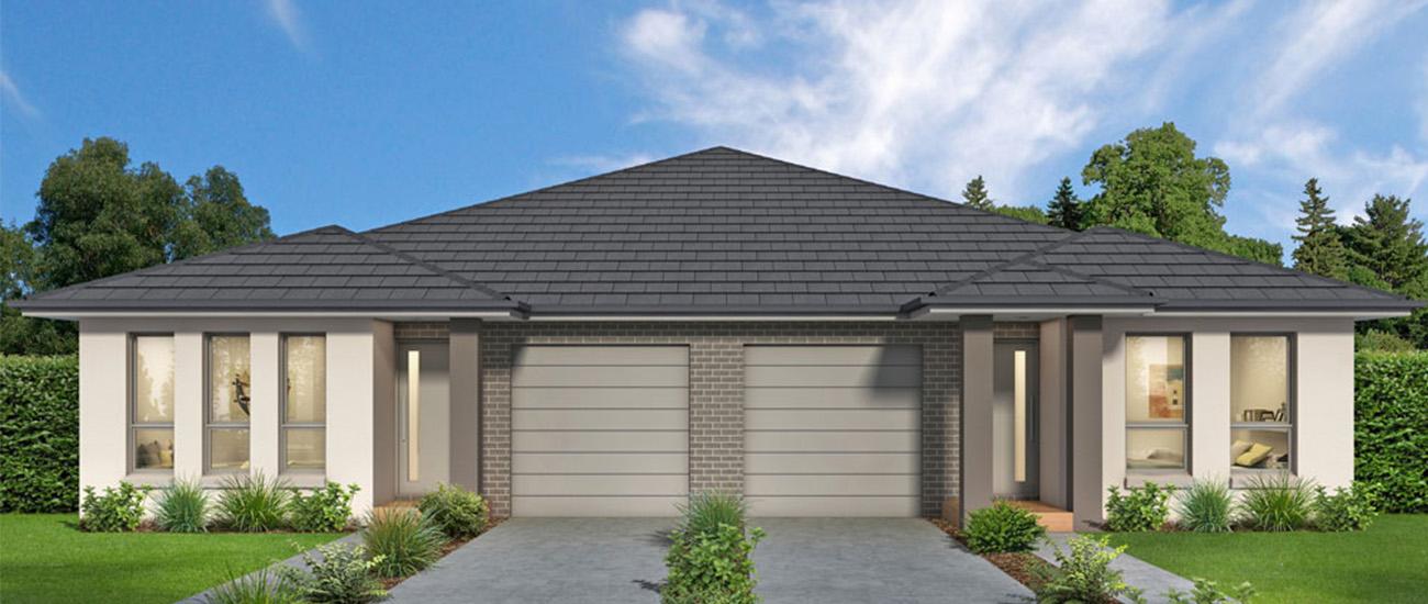 Single storey duplex home - Clarence design