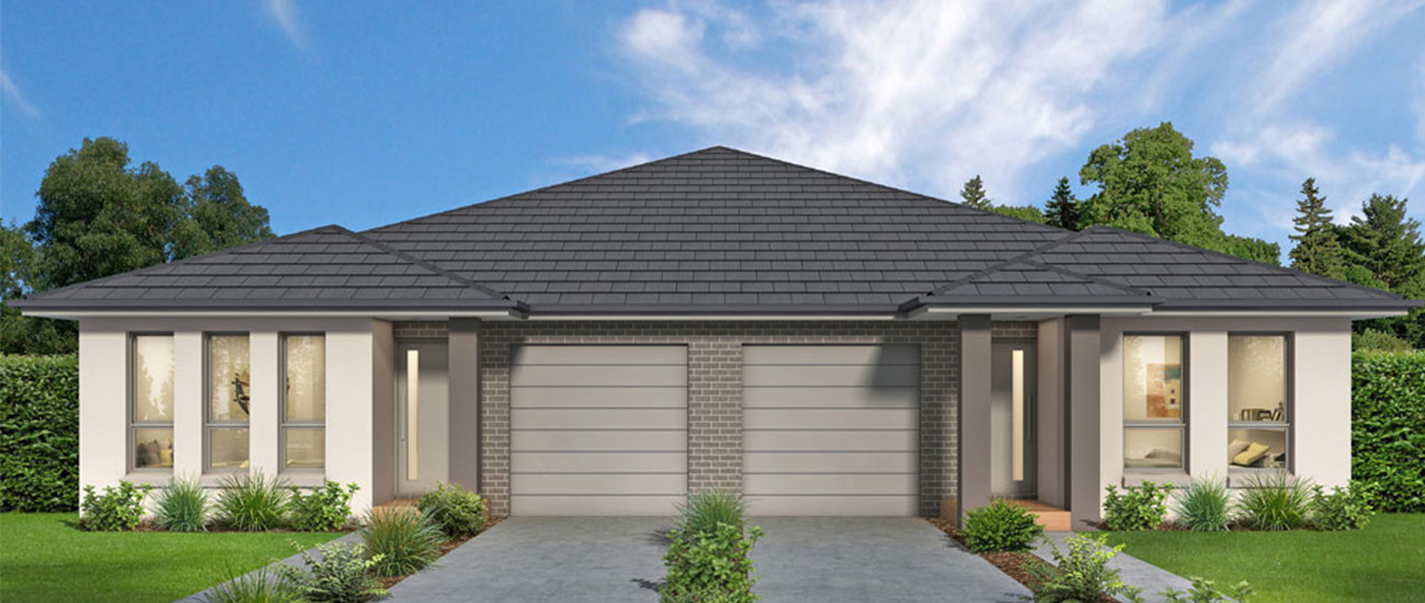 Single storey duplex home - Clarence design